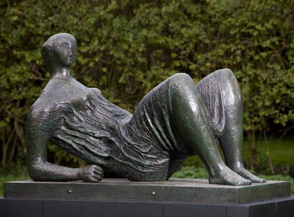 Draped Reclining Figure, 1952-53 bronze (LH 336). Photo: Jonty Wilde by permission of The Henry Moore Foundation
