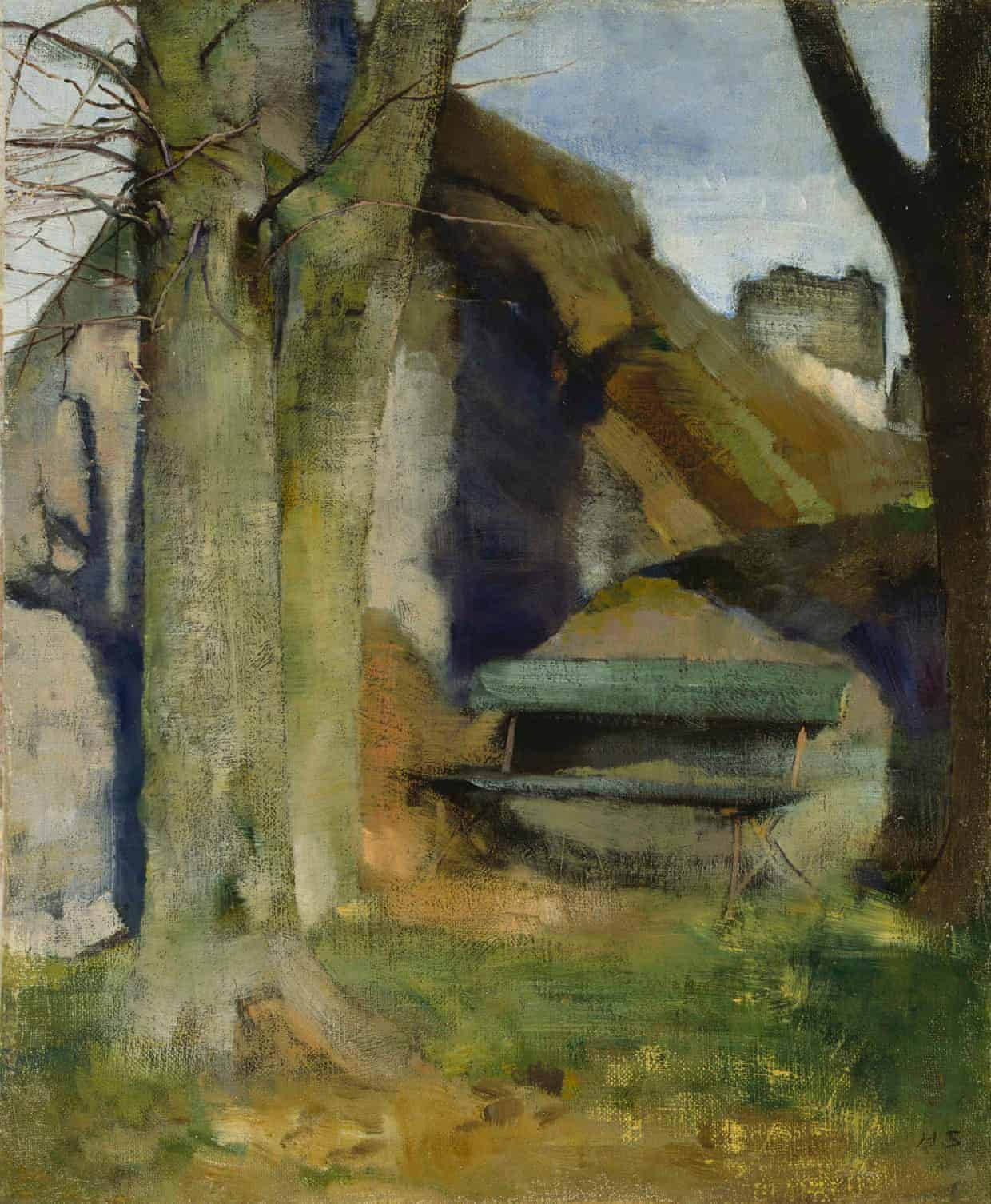 Helene Schjerfbeck, Shadow on the Wall (Breton Landscape), 1883. Photograph: Niemistö Collection; photo: Finnish National Gallery