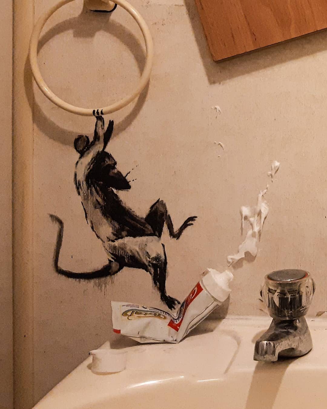 Banksy - My wife hates it when I work from home